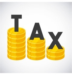 Tax time flat icons vector