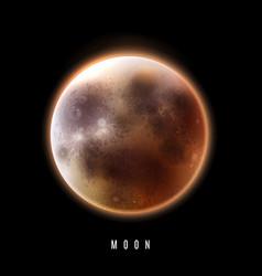 The full moon vector