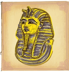 Tutankhamun - an hand drawn sketch freehand vector