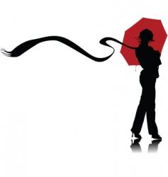 Umbrella and scarf vector