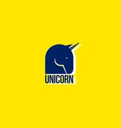 unicorn logo emblem myth fantasy magic vector image