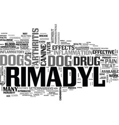 What your vet may not tell you about rimadyl text vector
