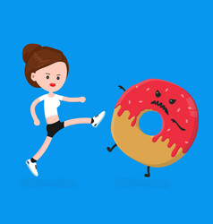 Young angry sport fitness shapely woman vector