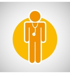 Injured guy icon vector