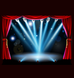 Centre stage background vector