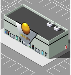 Isometric movie theater vector