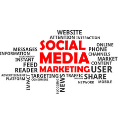 Word cloud - social media marketing vector