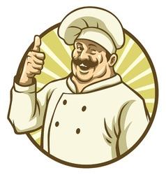 good chef thumb up vector image