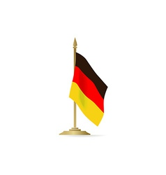 German flag stant on white space vector