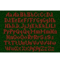Knitted alphabet vector image