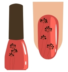 Image of applying a varnish on nails vector