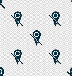 Map pointer icon sign seamless abstract background vector