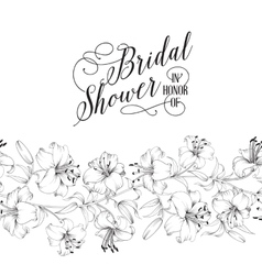 Vintage bridal shower card vector