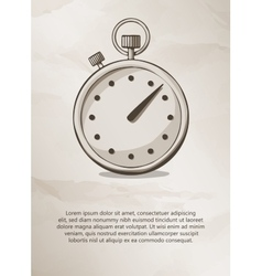 Stopwatch vintage label logo frame brochures vector