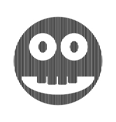 Smile face circle sign vector