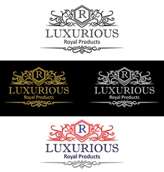 Luxurious logo perview vector