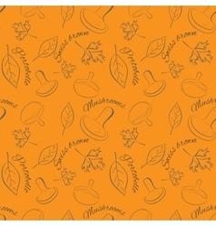 Food seamless pattern Mushrooms vector image