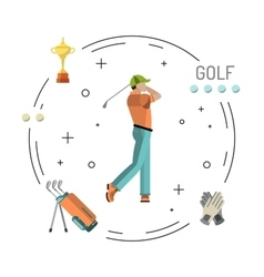Playing game golf vector