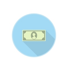 abstract dollar banknote icon with long vector image