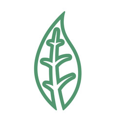 abstract line earth symbol vector image vector image