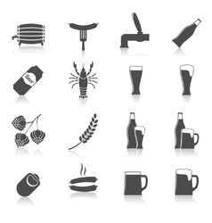 Alcohol Beer Icons Set vector image