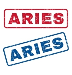 Aries rubber stamps vector