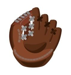 baseball catcher glove isolated icon vector image