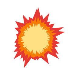 Boom star bursting comic book hole or explosion vector