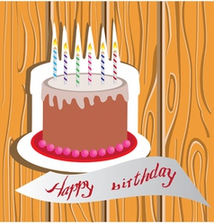 candle cake vector image vector image