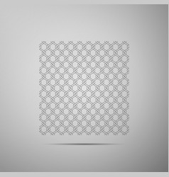 Chain fence icon metallic wire mesh pattern vector