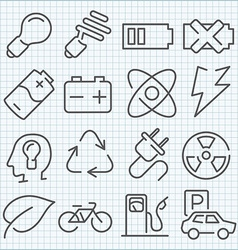 Clean icons set for web design and application vector