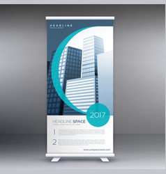 company roll up banner design presentation vector image