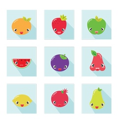 Cute fruit icon 001 vector