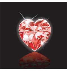 diamond heart icon vector image vector image