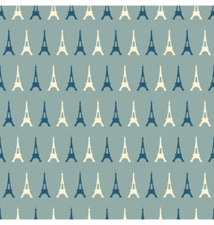 Eiffel Tower seamless pattern vector image