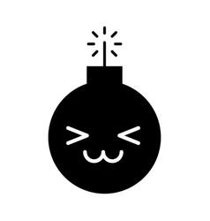 Explosive boom kawaii character vector