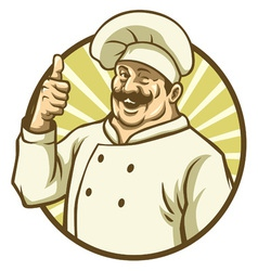good chef thumb up vector image