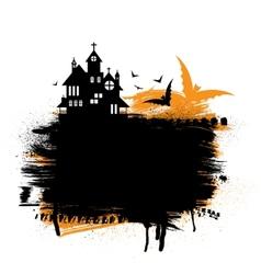 Halloween castle vector image vector image