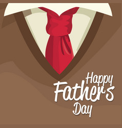 Happy fathers day card lettering over clothes man vector