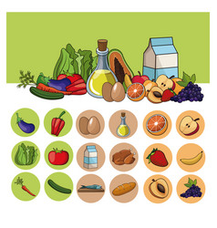 Healthy food lifestyle image vector