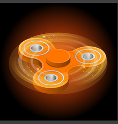 Isometric 3d a orange fidget spinner or vector