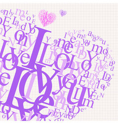 love page vector image vector image