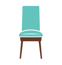 Minimalistic blue chair vector