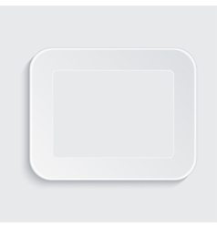 Modern white plastic tray vector