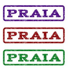 Praia watermark stamp vector