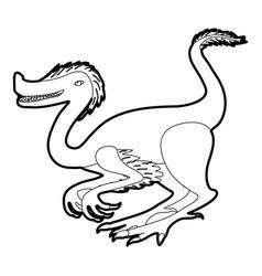 Purple dinosaur icon outline vector
