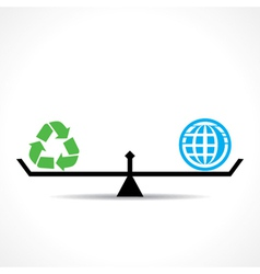 Recycle symbol and global both are equal vector