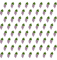 Sample seamless grape vines background vector image vector image