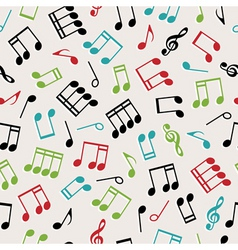 seamless music vector image