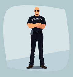 Security guard crossed arms on his chest vector